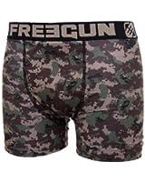 Freegun - Sous-vêtement homme -Freegun boxer homme - CAMOUFLAGE - NU