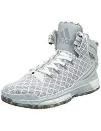 Adidas Men's D Rose 6 Boost, HOME-WHITE/CORE BLACK/CLEAR GREY