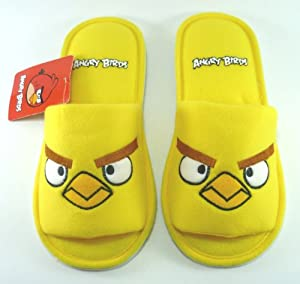 ANGRY BIRDS Jaune Chaussons Pantoufles Slippers Peluche Longueur 10.5