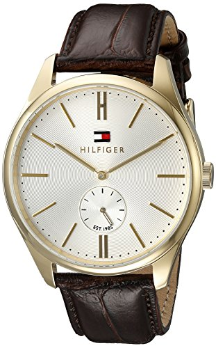 Tommy-Hilfiger-Mens-1791170-Analog-Display-Quartz-Brown-Watch
