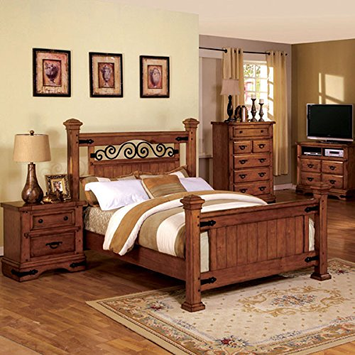 Great Chance Sonoma Mission Style American Oak Finish Eastern King Size 6 Piece Bedroom Set Proscul Culli