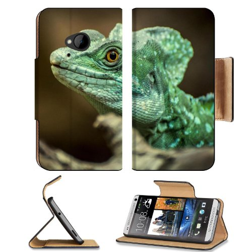 Predator Lizards Green Scales Reptile Htc One M7 Flip Cover Case With Card Holder Customized Made To Order Support Ready Premium Deluxe Pu Leather 5 11/16 Inch (145Mm) X 2 15/16 Inch (75Mm) X 9/16 Inch (14Mm) Msd Htc One Professional Cases Accessories Ope