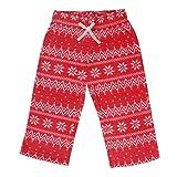 CrayonFlakes Baby Girls 9-12 Months Polar Fleece Pyjamas/Pants/Leggings (BG15/16-FUR2, Coral)