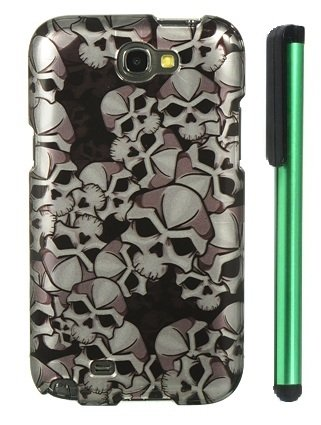Review:  Black Silver 2D Metal Skulls Premium Design Protector Hard Cover Case for Samsung Galaxy Note II N7100 (AT&T, Verizon, T-Mobile, Sprint, U.S. Cellular) Android Smart Phone + Combination 1 of New Metal Stylus Touch Screen Pen (4