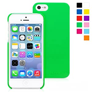 Snugg iPhone 5 / 5S Ultra Thin Case in Green - High Quality Slim Profile Non Slip, Protective and Soft to touch for Apple iPhone 5 / 5S