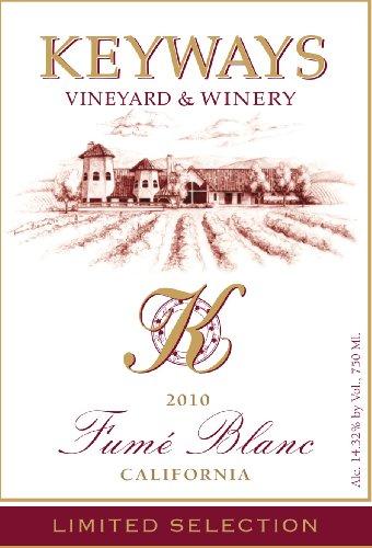 2010 Keyways Vineyard And Winery Limited Selection Fume Blanc, California 750 Ml