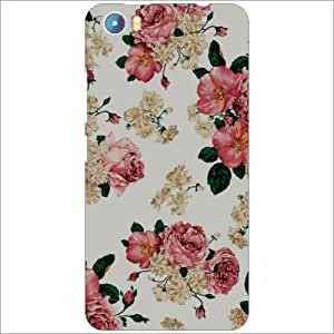 Micromax Canvas Fire 4 A107 Back Cover - Silicon Floral Designer Cases