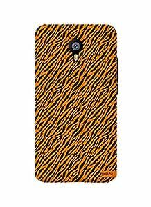 Gobzu Printed Back Covers for Meizu M2 Note - Zebra Orange
