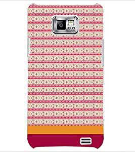 PrintDhaba Tribal pattern D-1856 Back Case Cover for SAMSUNG GALAXY S2 (Multi-Coloured)