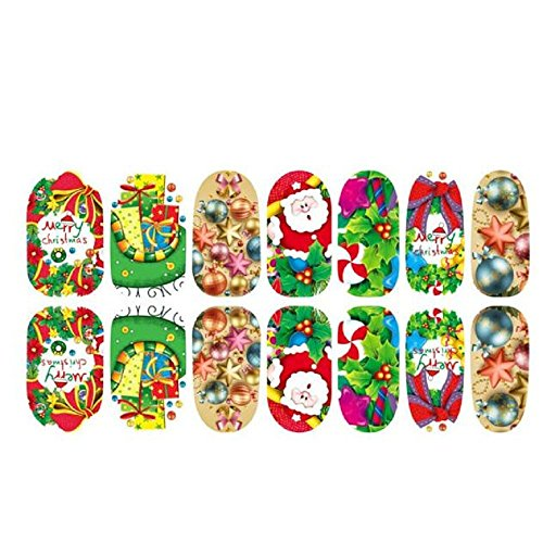 Nail Stickers, Yasalu Beauty Christmas 3D Nail Art Tips Decoration (B) (Can Can Sally Child Costume)