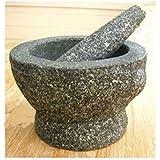 Stone (Granite) Mortar and Pestle, 8 In, 3+ Cup Capacity