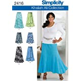 Simplicity Sewing Pattern 2416 Misses / Plus Size Skirts, AA (10-12-14-16-18)