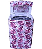E-Retailer Classic Pink Colour With Big Leaves Design Top Load Washing Machine Cover