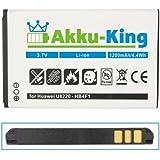 Akku-King Akku für Huawei U8220, E5331, E5830, E5832, E6939, E583X, U8000, U9120, U8230, Trekstor WLAN OPPO A100, T-Mobile Pulse, XSBoX GO - ersetzt Li-Ion HB4F1, BLT005, HWBAF1