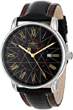 Breytenbach Unisex Quartz Watch with White Dial Analogue Display and Black Leather Strap BB77501SG