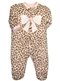 Little Me Baby-Girls Newborn Leopard Blanket Sleeper, Pink Print, 3 Months