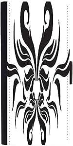 Snoogg Decor Swirl Elements Illustration Designer Protective Phone Flip Case Cover For Desire 620G Dual Sim