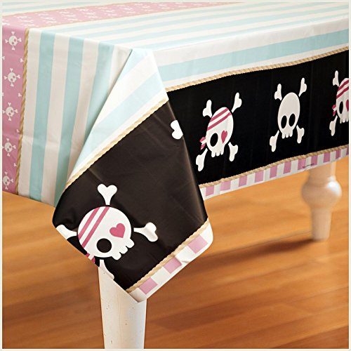 Birthday Express - Pretty Pirates Party Plastic Tablecover
