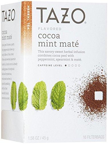 Tazo Cocoa Mint Mate Herbal Tea - 16 Bags Per Pack -- 6 Packs Per Case. front-591237