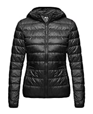 Wantdo Women's Hooded Packable Ultra Light Weight Down Coat Short Outwear