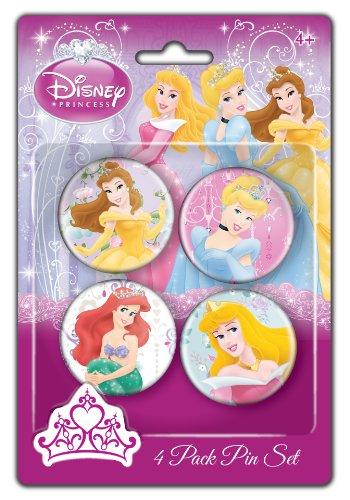 Disney Princesses Pin Set, 4-Pack