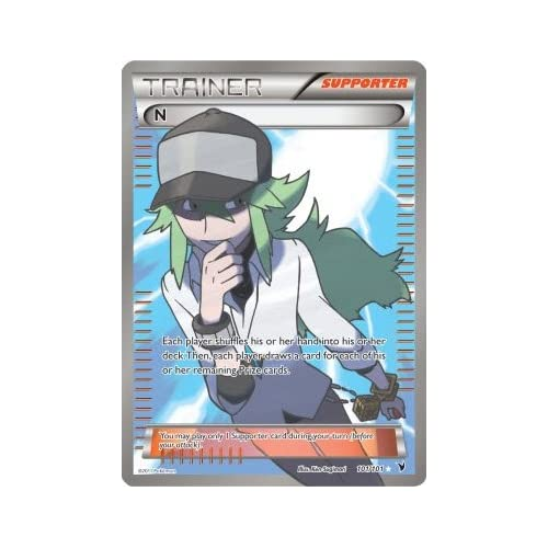 .com: Pokemon Trainer N Super Rare Holo Full Art 101 Noble Victories