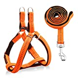 """URPOWER Dog Harness Durable dog Leash Heavy Duty & Adjustable Dog Collar Anti-Twist Dog Leash Harness for Small Medium & Large Dogs Perfect for Walking Running Training (L (17""""-27.5"""" Chest Girth))"""