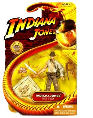 Indiana Jones Movie Hasbro Series 4 Action Figure Indiana Jones with Whip and Machette (Temple of Doom)