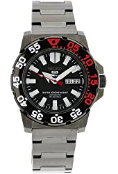 Seiko Men's SNZF53 Stainless Steel Case Black Dial Watch