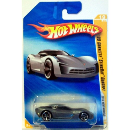 Hot Wheels 2010-019 New Models SILVER '09 Corvette Stingray Concept 1:64 Scale