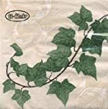 Pack of 4 Napkins - Ivy - 33 x 33cm - Great for Decoupage / Decopatch - 16-609-13