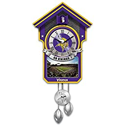 Minnesota Vikings NFL Licensed Tribute Cuckoo Clock with Sound