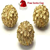 Ghasitaram Gifts Golden Pine Cones