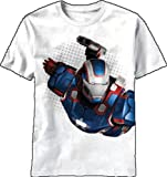 Marvel Big Boys Patriot Flyer-M, White, X-Large