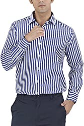 Silkina Men's Regular Fit Shirt (FSUPXFB, 38)