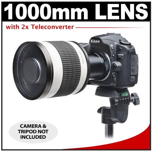 Rokinon 500Mm F/6.3 Multi-Coated Mirror Lens With 2X Teleconverter (=1000Mm) For Nikon D3100, D3200, D5100, D7000, D700, D800, D4 Digital Slr Cameras