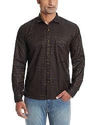 Dennison Men's Casual Shirt (SS-16-430_38_Dark Grey)