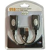 Storite USB (Male)To RJ45 + USB (Female) USB Over Cat5/5e/6 Extension Adapter RJ45 -Up To 150ft Length