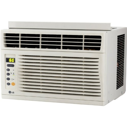 LG 6,000 BTU Window Mounted Air Conditioner, with 3 Cooling and 3 Speed Modes, 12-Hour On/Off Timer, Easy Clean Mesh Filter, Energy Saver Function with Eco Friendly R410A Refrigerant, Fully Functional Remote Included