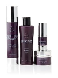 Michael Todd True Organics/Acne Oily Skincare Starter Kit + Roobios Tea Eye Gel