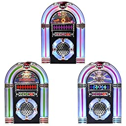Illuminated and Musical Decades Tabletop Jukebox Centerpiece (50\'s Rock \