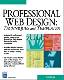 img - for Professional Web Design: Techniques and Templates (with CD-ROM) (Charles River Media Internet & Web Design) book / textbook / text book