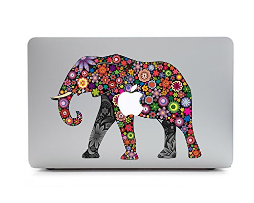 iCasso Animal Removable Vinyl Decal Sticker Skin for Apple Macbook Pro 11/13/15 inch Apple Macbook Air 11/12/13 inch Unibody 13 Inch Laptop (Elephant_4) (Macbook Air Removable Skin compare prices)