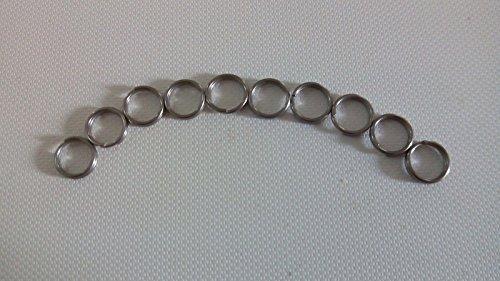"""10pcs Titanium Ti Matte Key Chain Key Ring Split Ring Size S 10mm 0.4"""""""