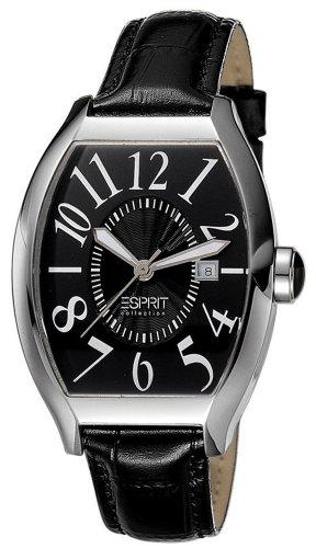 Esprit Collection hectra pure night EL101252F02 - Reloj analógico de cuarzo para mujer, correa de cuero color negro (agujas luminiscentes)
