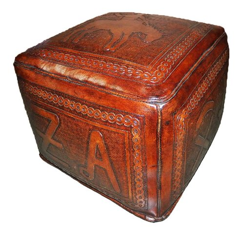 New World Trading Large Ottoman, Bronco, Antique Brown