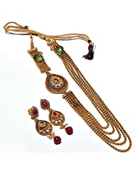 Kundan Necklace Set Original Ad Puwai One Gram Gold Plated Handmade Branded New Design Fashion Real Look Diamond...