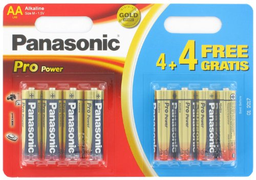 Pile LR06 (AA) Alcaline Panasonic 136004 Pro Power 4+4 gratis 1.5 V 8 pc(s)