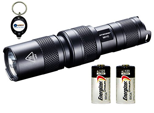 Nitecore Mh1C (Multi Task Hybrid Series) Cree Xm-L U2 Led 550 Lumens Flashlight Combo W/ 2X Energizer Cr123A & 1X Keychain Light