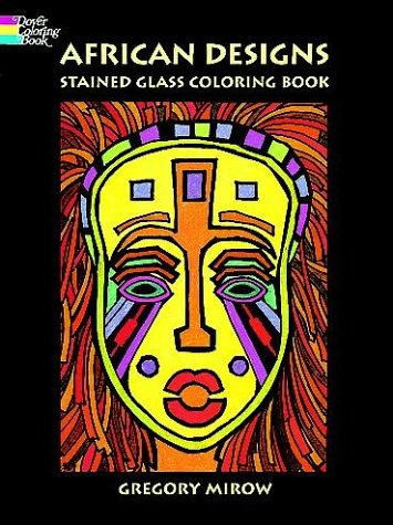 African Designs Stained Glass Coloring Book